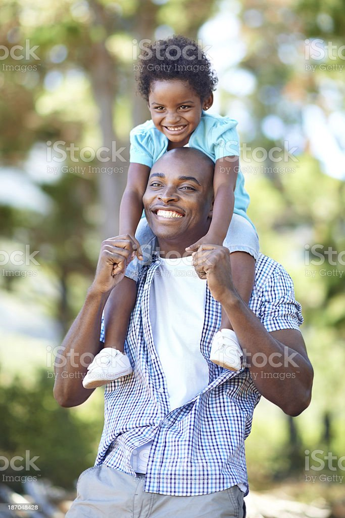 She's his little princess! stock photo
