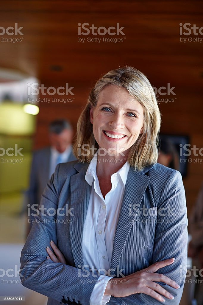She's in charge stock photo