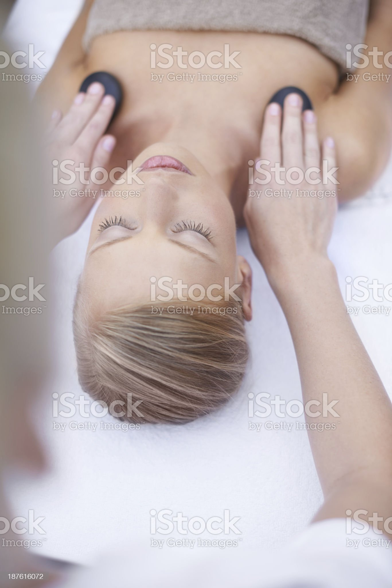She's in good hands royalty-free stock photo