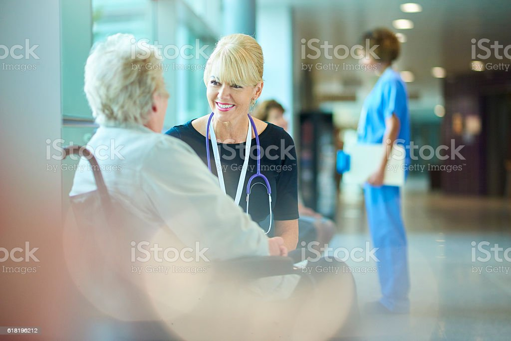 she's in good hands stock photo