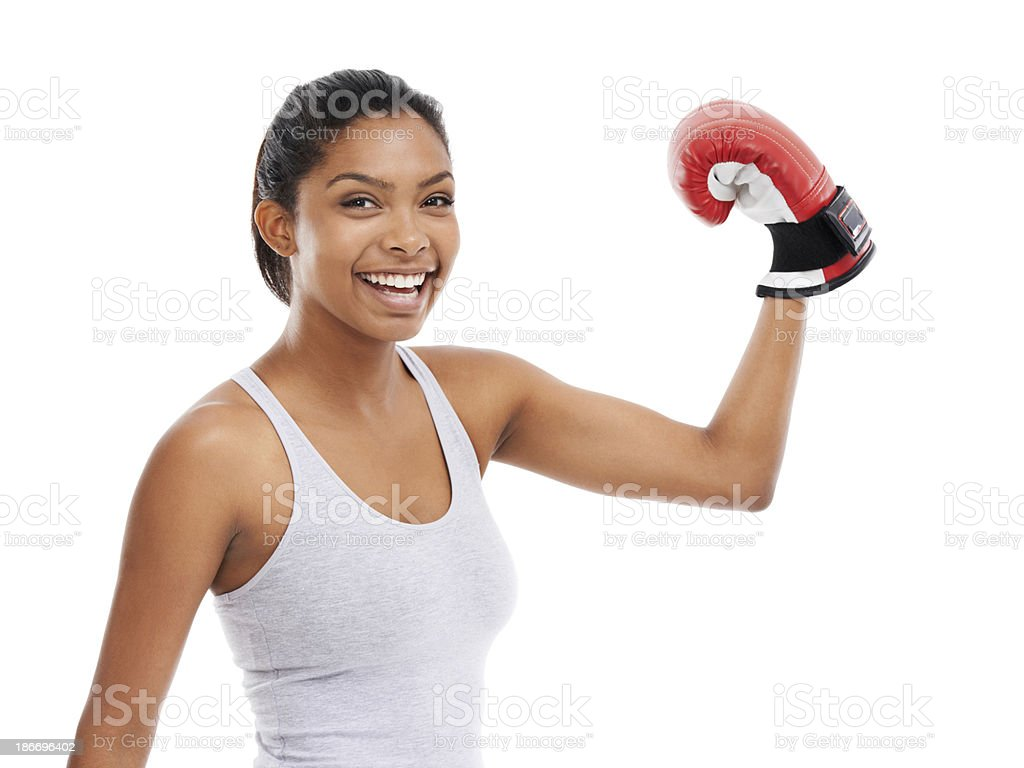 She's in great shape royalty-free stock photo