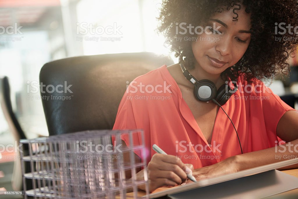 She's in her element stock photo