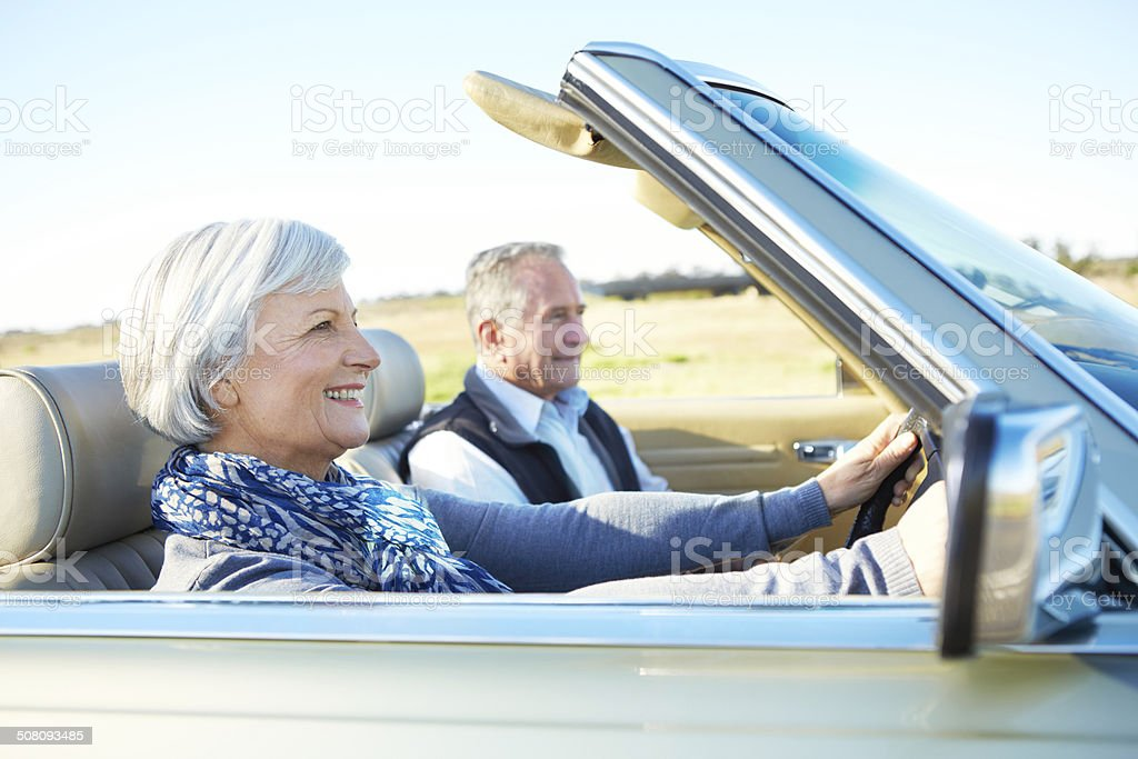 She's in the driver's seat royalty-free stock photo