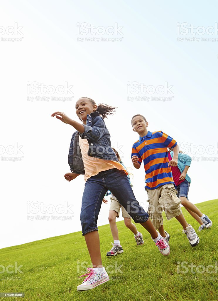 She's in the lead! royalty-free stock photo