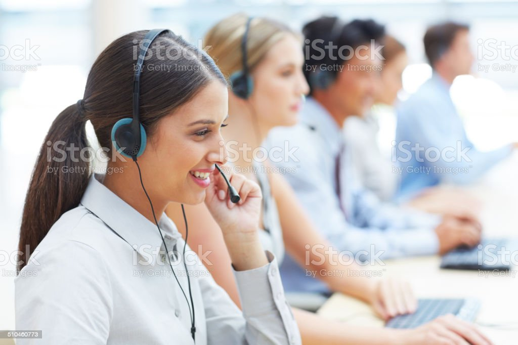 She's incredibly focused on her job stock photo