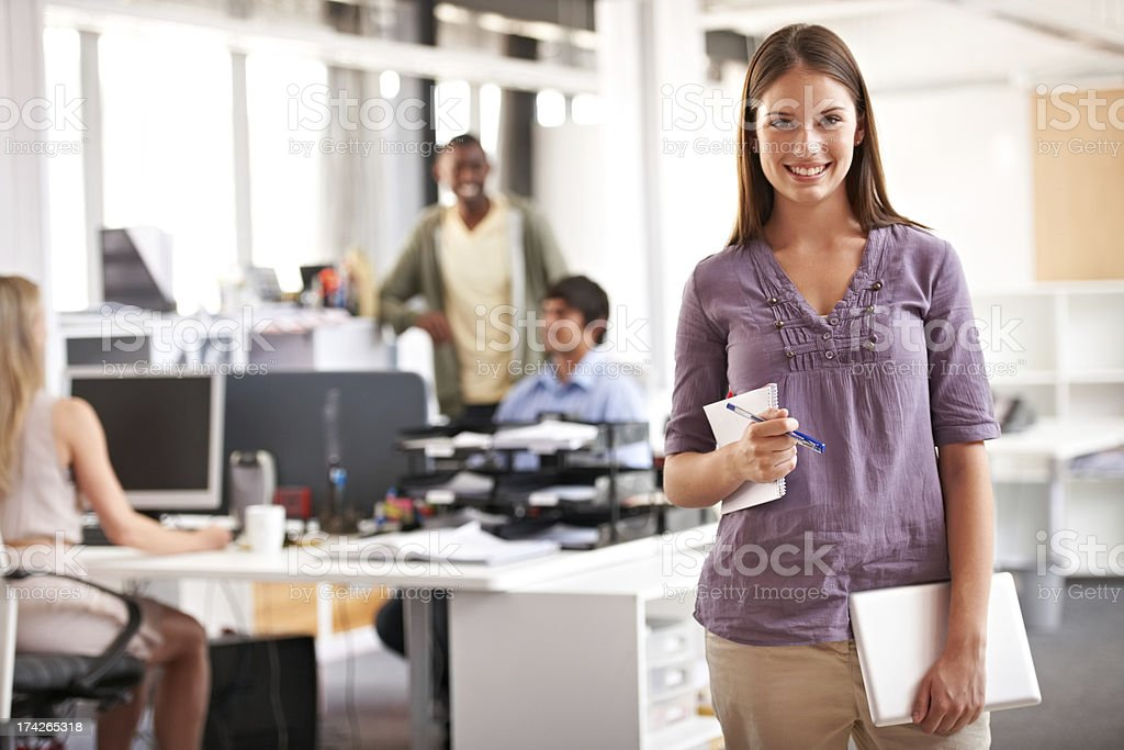 She's inspired by her work environment! royalty-free stock photo