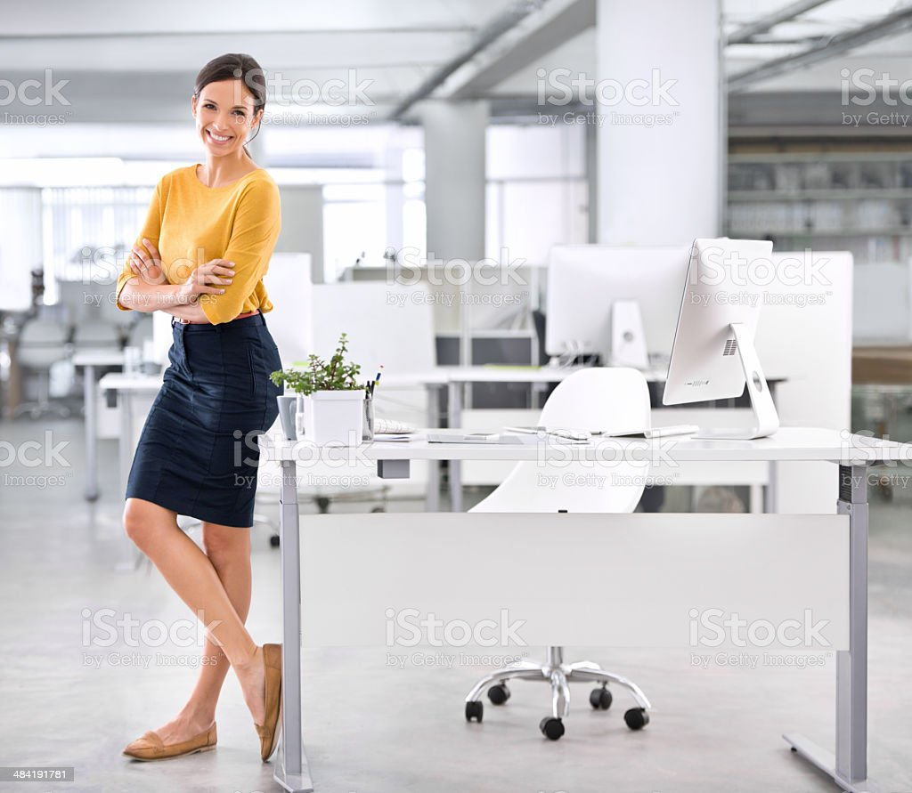 She's inspired for success royalty-free stock photo