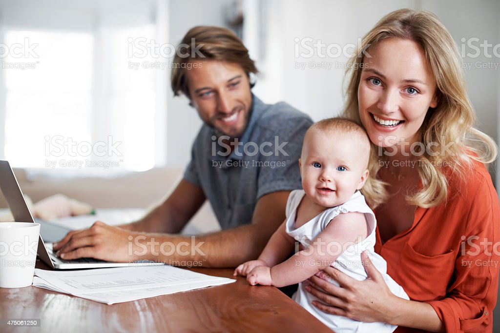 She's keeps us busy! stock photo