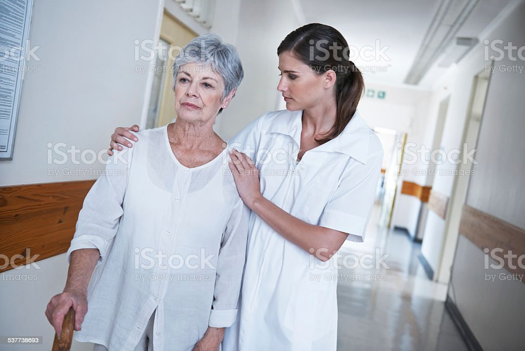 She's kind and compassionate stock photo