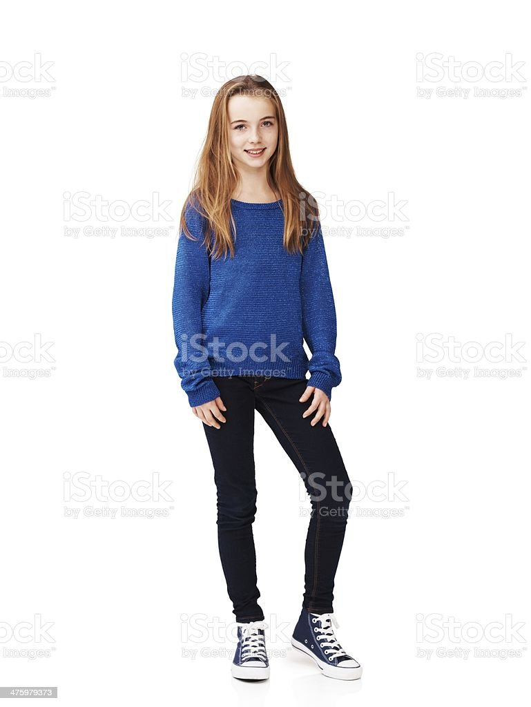 She's laid-back and relaxed stock photo