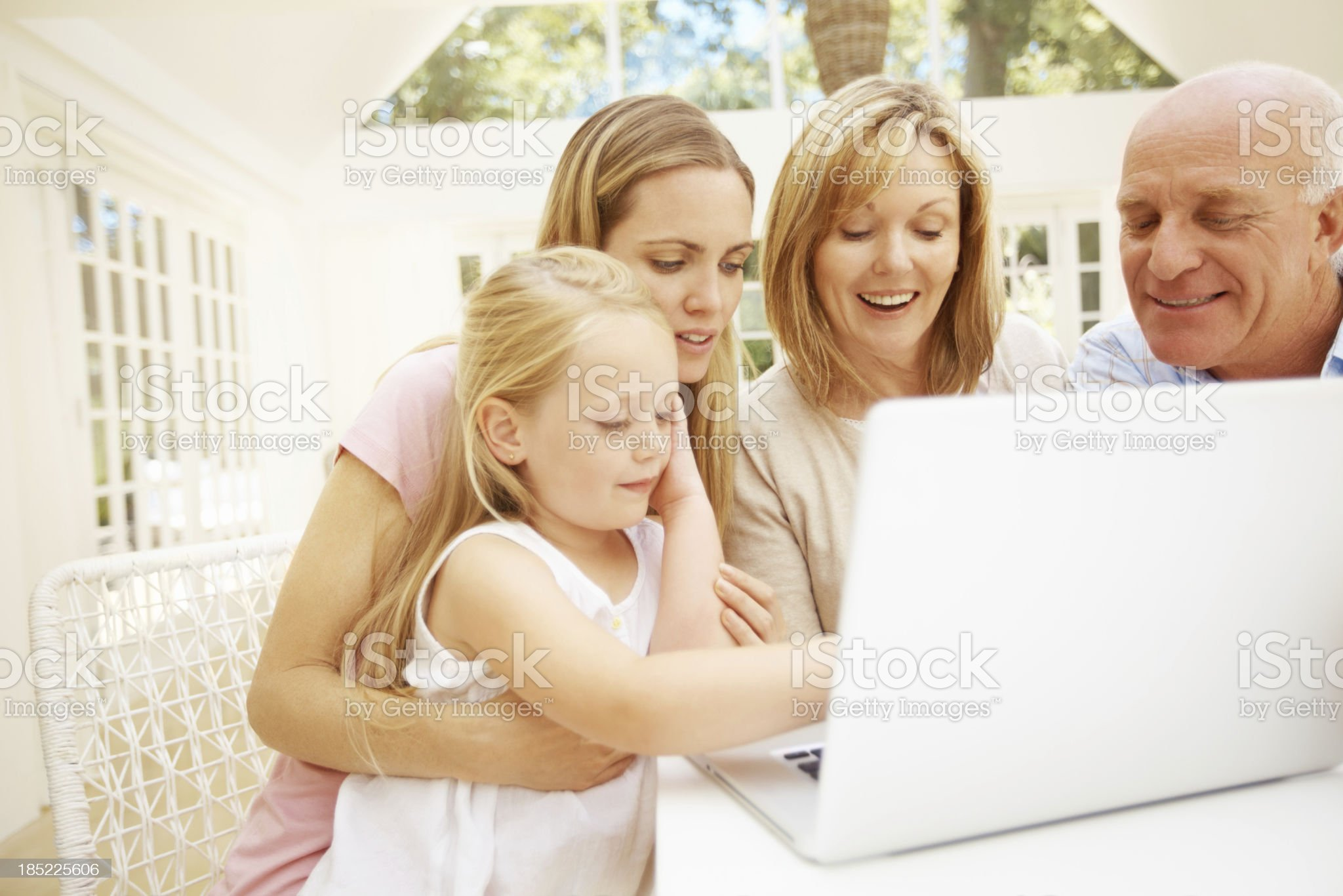 She's learning so quickly royalty-free stock photo