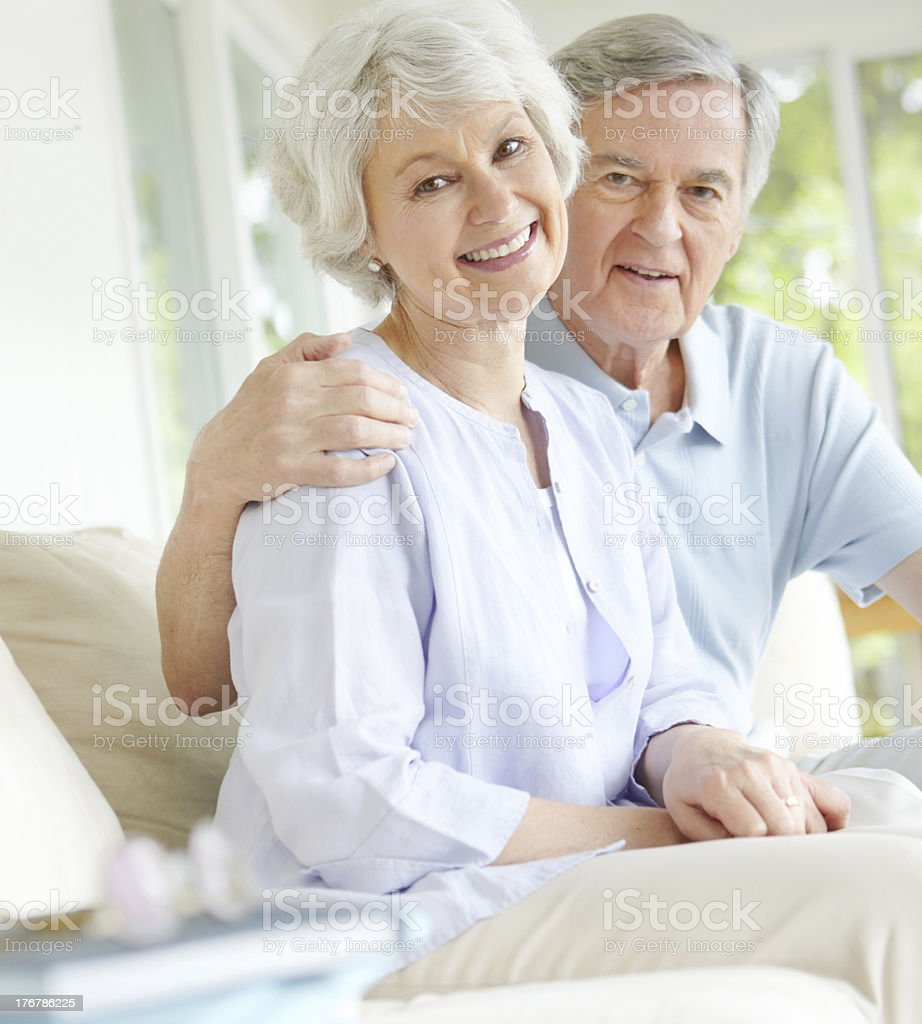She's loved and taken care of royalty-free stock photo