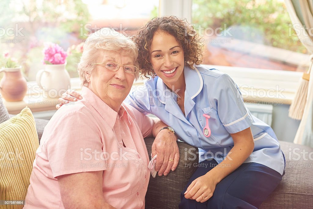 she's more than just a carer stock photo