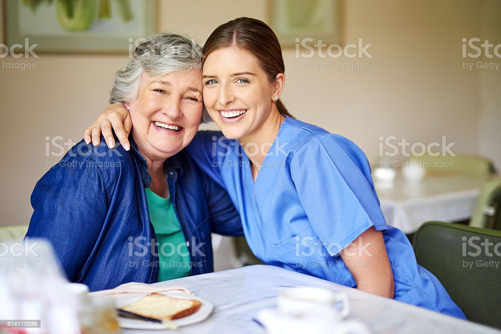 She's my favourite patient stock photo