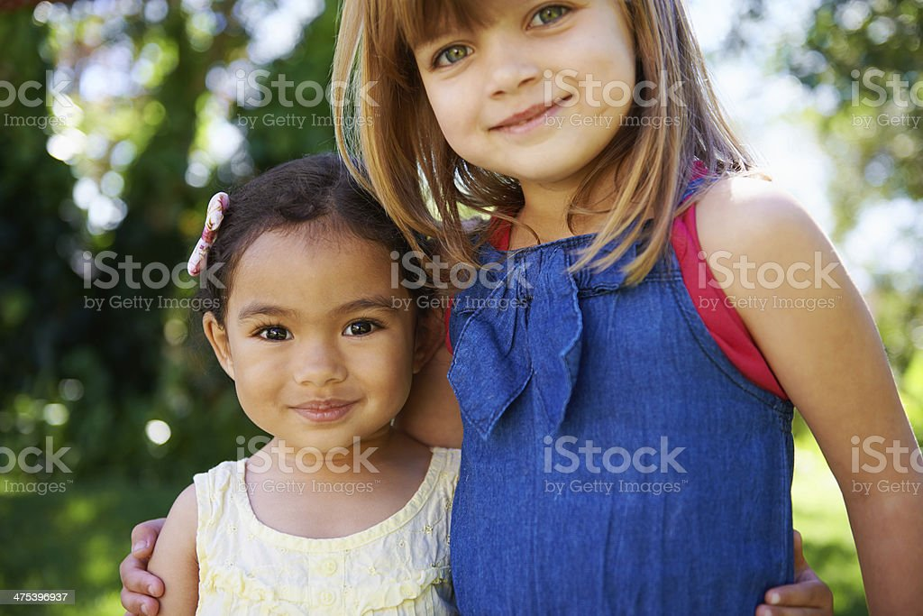 She's my little bud! stock photo