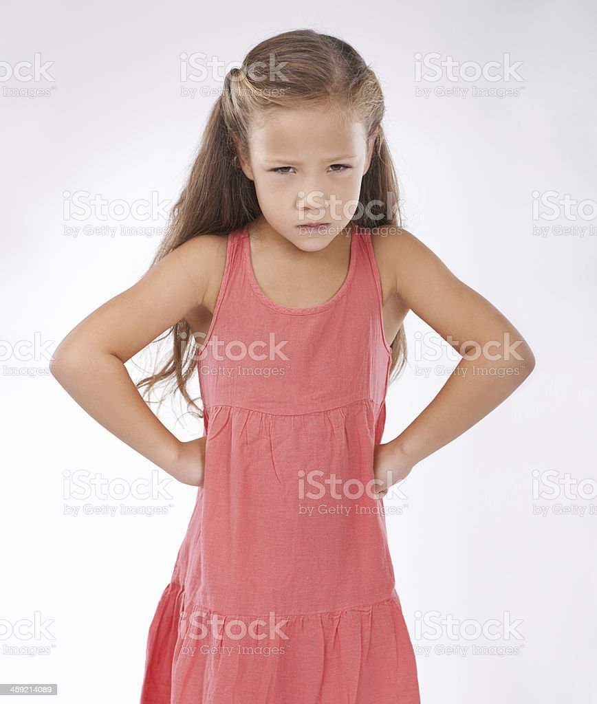 She's not getting her way royalty-free stock photo