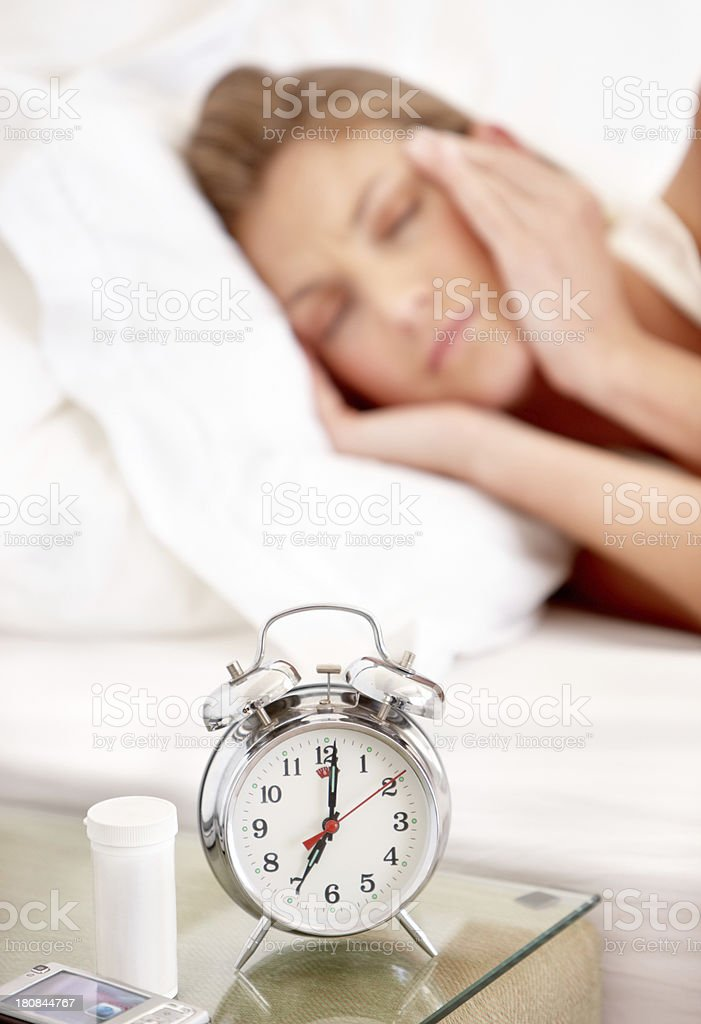 She's not going into work today stock photo