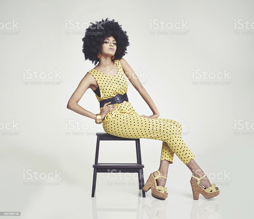 She's one funky chic! stock photo