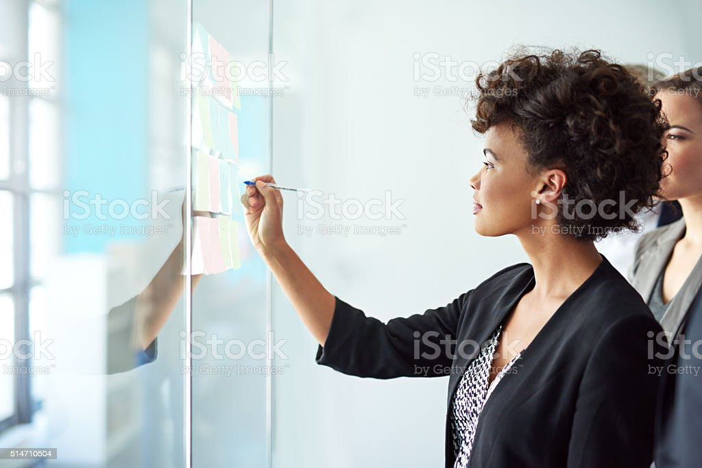 She's onto a winning idea stock photo