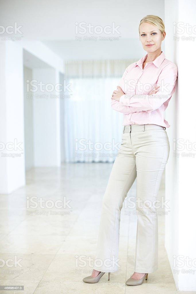 She's ready for any challenge! royalty-free stock photo