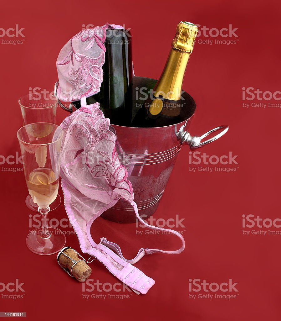 She's ready for the second bottle royalty-free stock photo