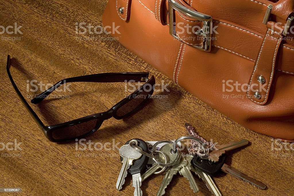 She's Ready to Go, or Just Gotten Home royalty-free stock photo