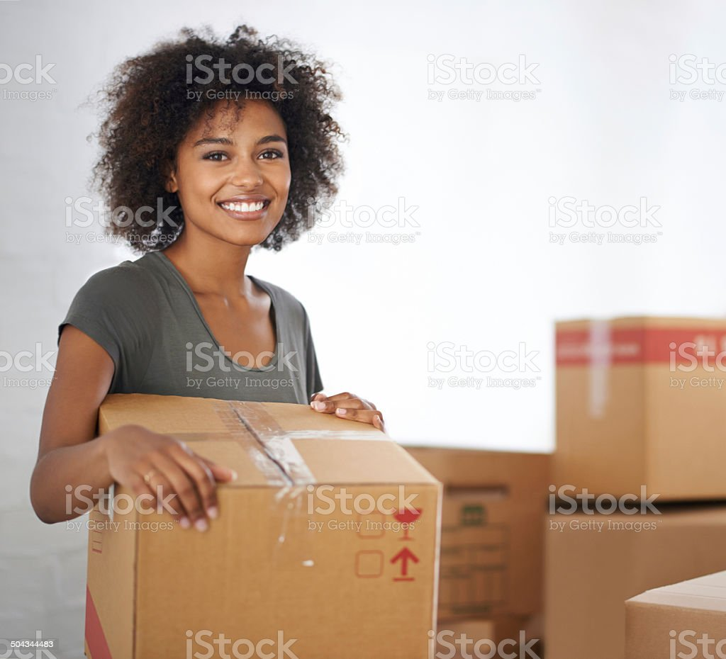 She's ready to move out royalty-free stock photo
