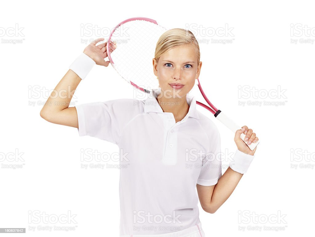 She's relaxed about the big match royalty-free stock photo