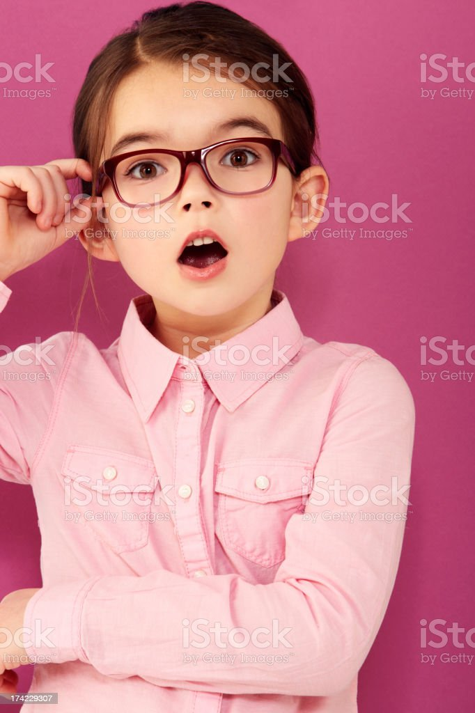 She's seriously surprised royalty-free stock photo