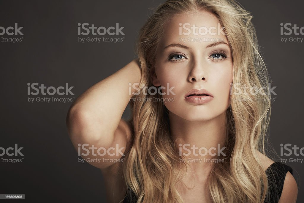 She's sexy and confident stock photo