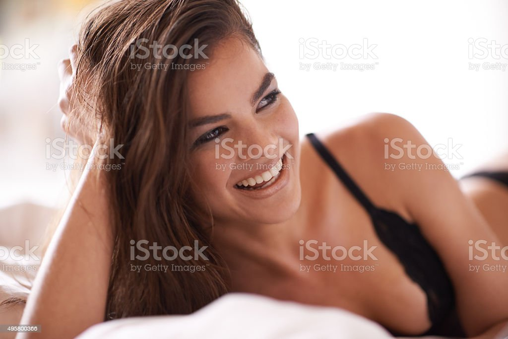 She's so beautiful in the morning stock photo