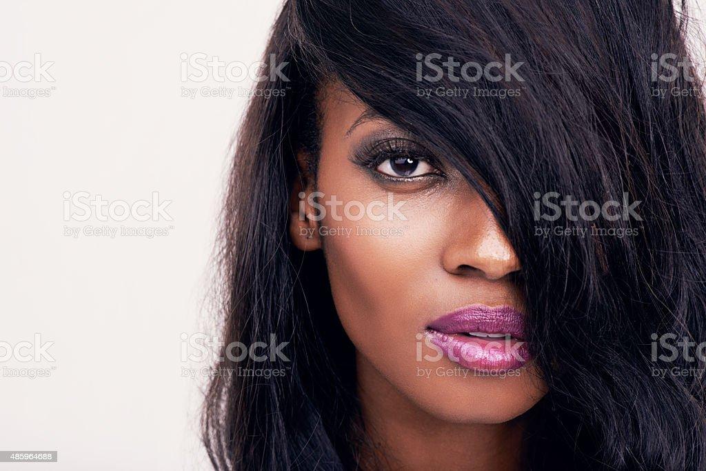 She's strikingly beautiful stock photo