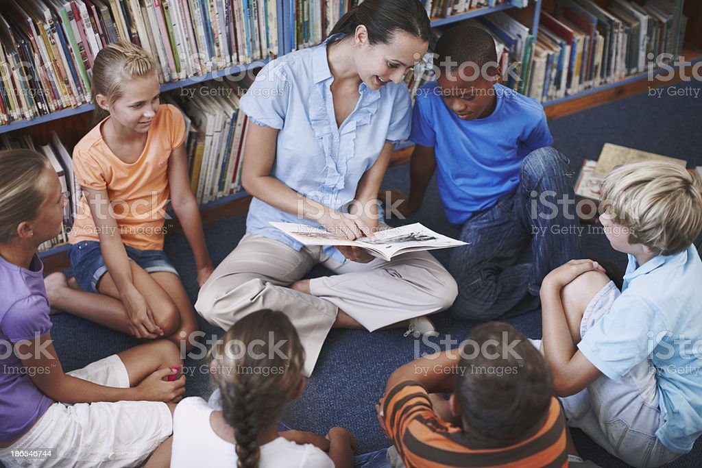 She's such a great teacher royalty-free stock photo