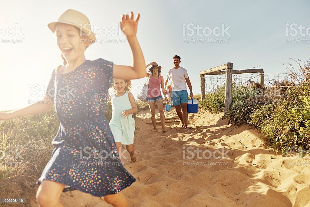 She's super excited... stock photo
