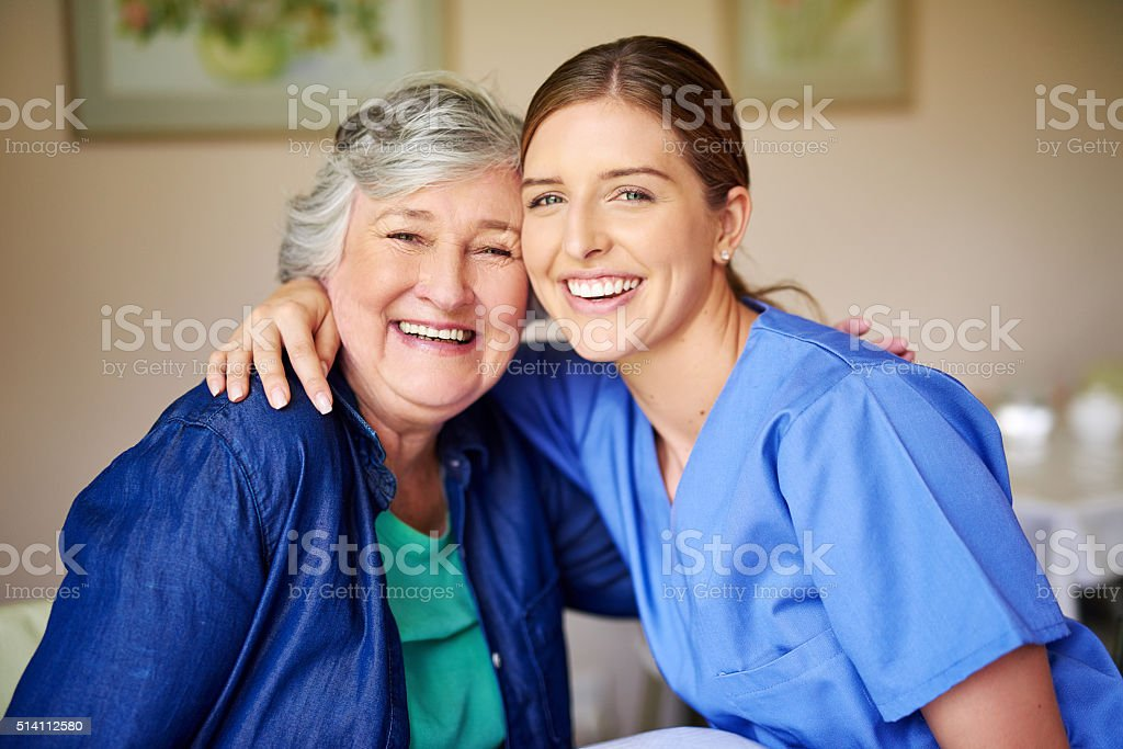 She's the best nurse ever stock photo