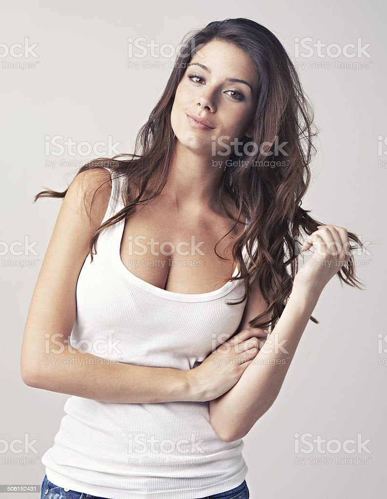 She's the epitomy of gorgeous! stock photo