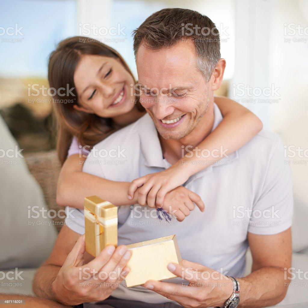 She's the greatest gift of them all stock photo