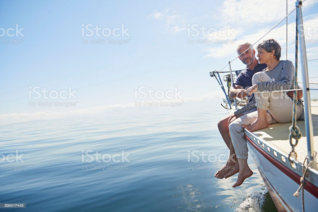 She's the only fish in the sea for me stock photo