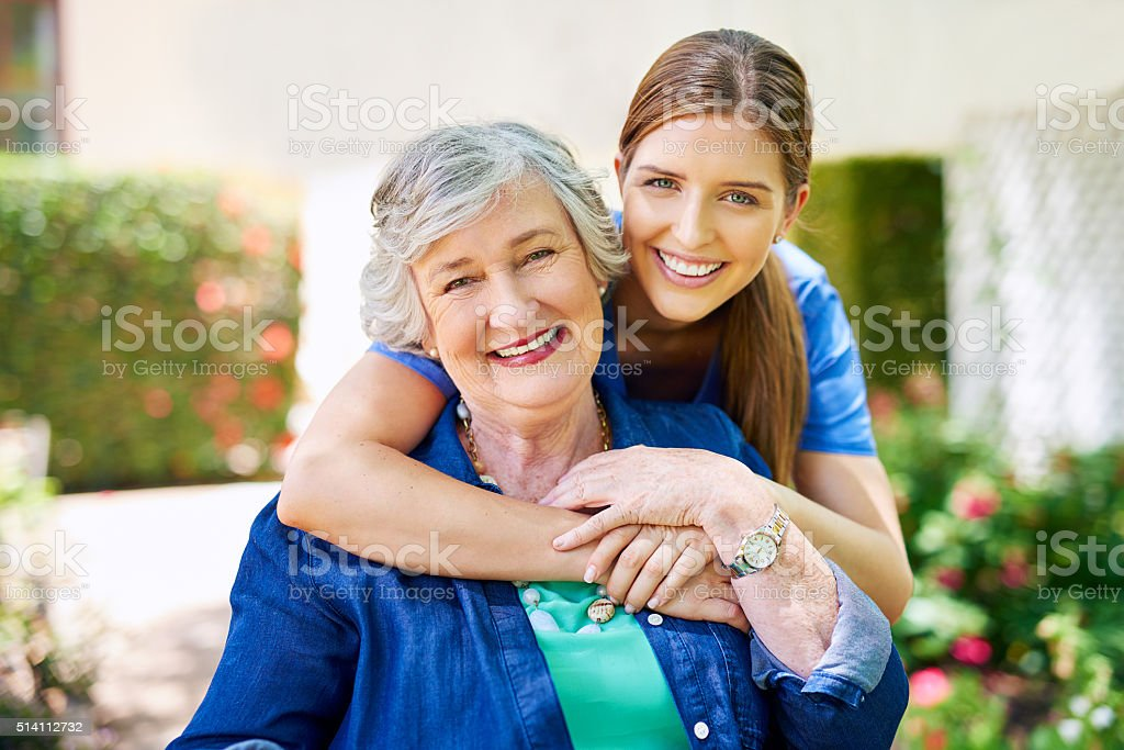 She's the only nurse I trust stock photo