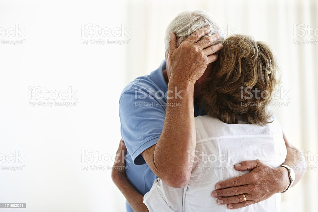 She's there for him through thick and thin royalty-free stock photo