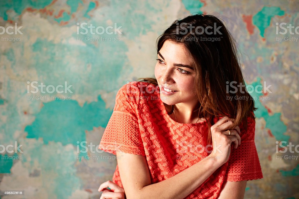 She's too cute for words stock photo