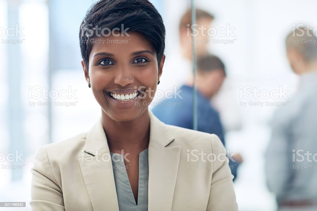 She's young and goal oriented stock photo