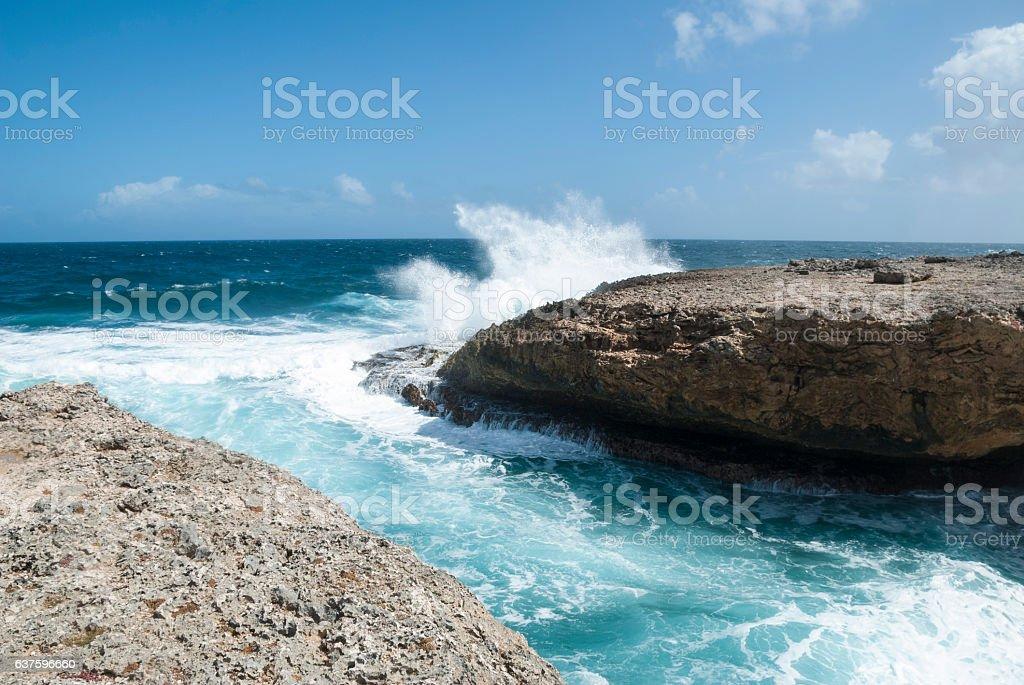 Shete Boka National Park Curacao stock photo