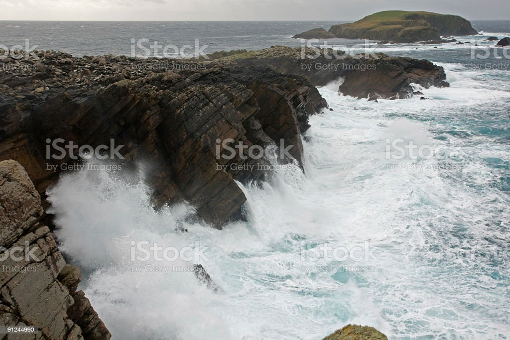 Shetland during a storm royalty-free stock photo