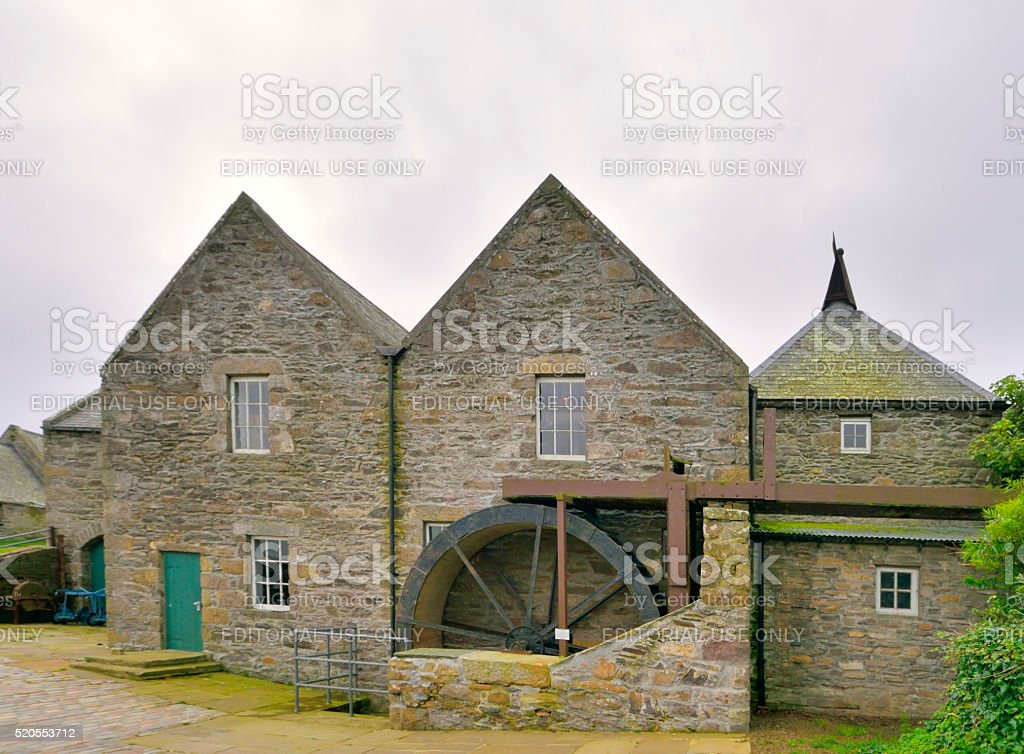 Shetland Islands Quendale Water Mill stock photo