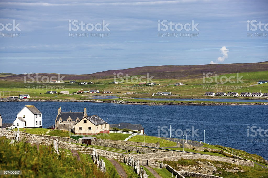 Shetland Landscape stock photo