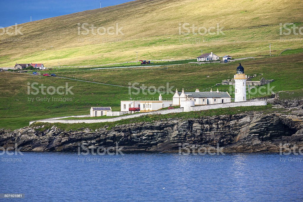 Shetland Lighthouse stock photo