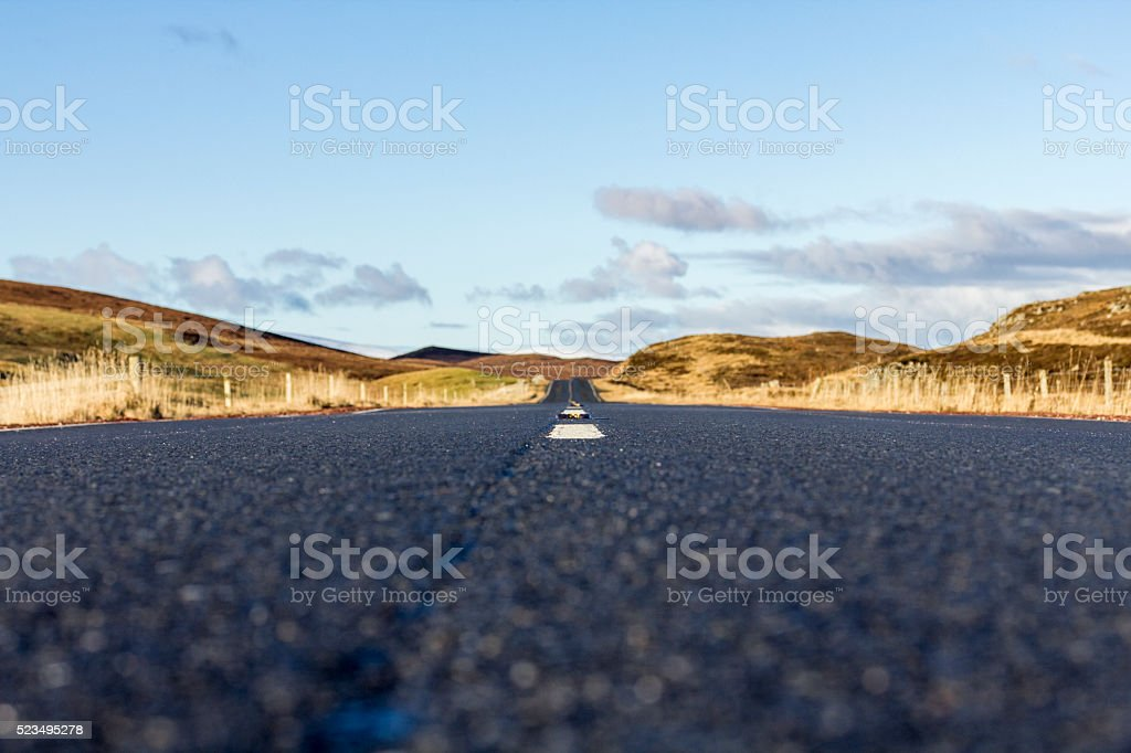 Shetland traffic stock photo