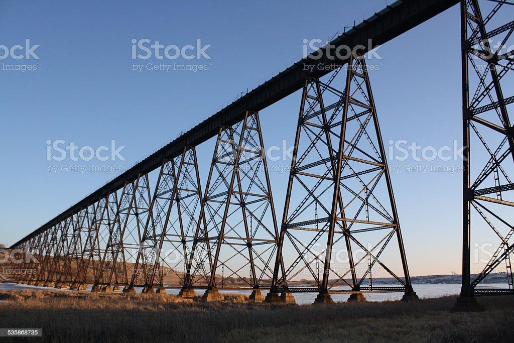 Sheyenne River Bridge stock photo