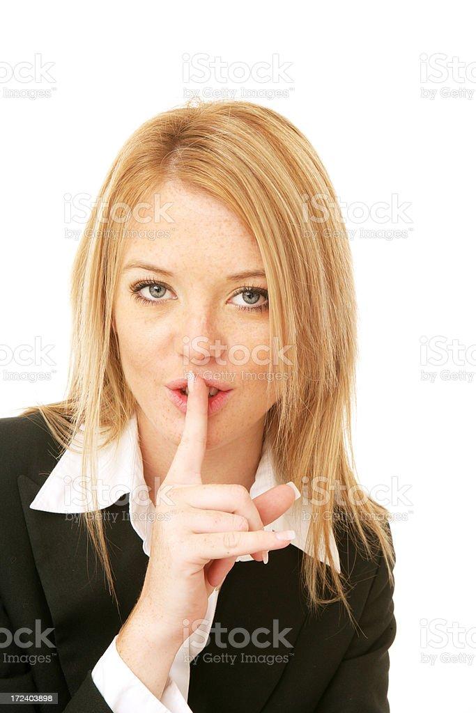 Shh. royalty-free stock photo